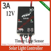 Free Shipping 3A,12V Cheap Solar Lamp Controller Regulators with Timer and Light sensor