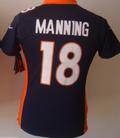 Free shipping  Foobtall Jerseys 18 Peyton Manning 2012 women football Jerseys embroidery logo