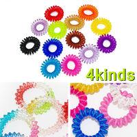 retail sale ladies hair rope telephone line hair ring Many Color Elastic Hair Band Rope