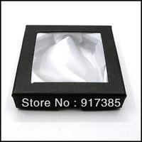 1X JB001 Jewelry Wedding Storage Organizer Packing Black Box Case Fit Bracelet Free Shipping