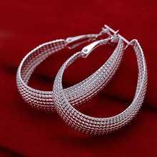 Factory price top quality 925 sterling silver jewelry earrings fine hoop massy perfect clip drop stud dangle earrings SMTE064