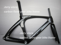 700C 100% full carbon fiber bike frame,track and fixed gear single speed glossy finish stock