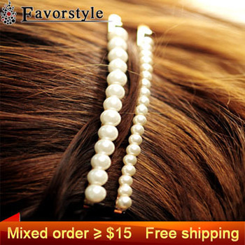 Mixed order more than $15 Get Free Shipping ~~~ 1121 handmade pearl string brief ccbt clip hair clip clips extension jewelry