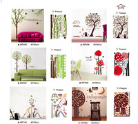 20pcs/lot 60*90cm Free shipping JM series Large wall decals Mixed order nature bird tree wall decal live love quotes wall papers
