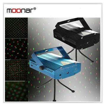 150MW Mini Moving Laser Flash Light Party Stage DJ LampTripod Aluminium Material Green Red light 110-240V 50-60Hz DA0080-20