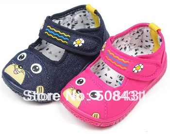 Branded 2013 First Walkers Shoes  Skidproof Toddler Canvas Baby Shoes Girls Boys Long 12 - 14.5cm