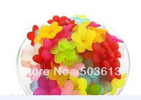Free Shipping!Bulk Wholesale 300Pcs/lot  Random Mixed Acrylic Flower Beads,DIY Loose Beads 800