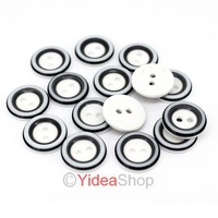 Wholesale - 400pcs New Arrival 2 Holes Acrylic Black White Design Sewing Buttons Fit Clothes 10mm DIY 111615