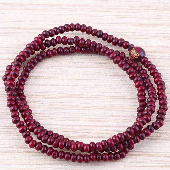 Rosewood Beads Tibet Meditação Budista 4 milímetros x 216 Oração Mala Colar Buda(China (Mainland))