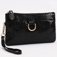 Fashion Snake skin Genuine cow Leather Women's Purse/Clutch Evening Bag/handbag WLHB540