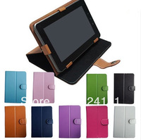 """50pcs/lot DHL Free Shipping PU Leather Case Cover for 7"""" Inch Android Tablet PC MID Multi Angle Tablet Case"""