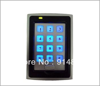backlight keypad +125khz  EM -ID+  weigand 26 rfid access control reader +proximity card reader + door bell button