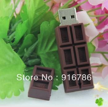 8GB USB Flash Drive Dark Brown Plastic Chocolate Pattern