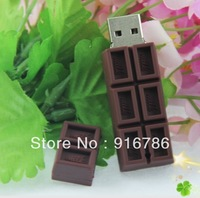8GB USB Flash Drive Dark Brown Plastic Chocolate Pattern