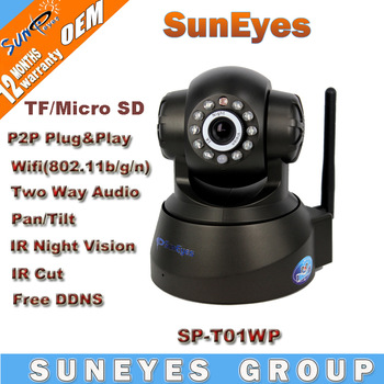 SunEyes P/T Wireless Plug and Play IP Camera with IR CUT  Wifi PnP Network Camera SP-T01WP