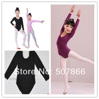 Free Shipping - New Girls Long-sleeve  Leotards Ballet Costume Tutu Dance Skate Dress SZ 3-10Y