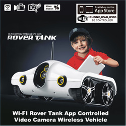WI-FI Rover Tank App Controlled Video Camera Wireless Vehicle for iphone ipad ipod HOT selling Free shipping(China (Mainland))