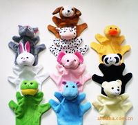 Wholesale(10pcs/lot),Large hand  puppet ,10 different style animal toy puppet Baby stories helper,Free shipping
