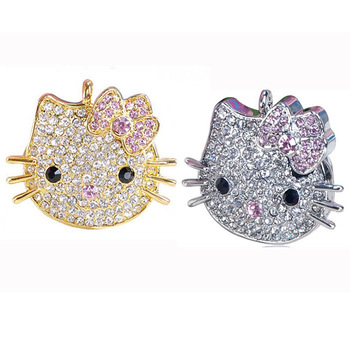 Free shipping,Wholesale full capacity sweet crystal cat shape 4GB 8GB 16GB 32GB USB 2.0 Memory Stick Flash Pen Drive,HOT USB458