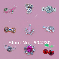 30 styles optional 100PCS 3D Acrylic Faux Pearl Crystal Alloy Nail Art Decoration Glitters Rhinestones Phone Decorations