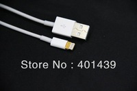 Free DHL for Iphone 5 Ipad 4 Ipad mini new 8pin to USB charge and data cable without retail package only PE bag 500pcs/Lot