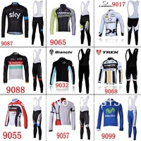 2013 Sky ,Cube ,Orbea ,bianchi Team Bike Cycle Team Winter Fleece Thermal BIB Pants Suits
