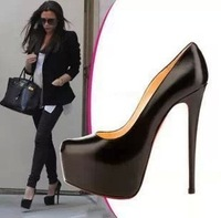 2014 Spring New fashoin brand sexy pump shoes PU leather weding  high heel women shoes stiletto free shipping H01820
