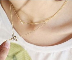 Min.order is $15 (mix order) New style fashion exquisite flying angel necklace for women X4742(China (Mainland))