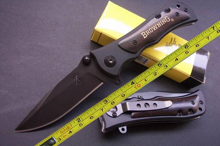 NEW Browning Ebony Wood Folding Pocket Knife BR339B(China (Mainland))