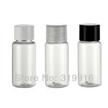 100pc/lot 15ml transparent Mini vial clear makeup plastic PET plastic travel set bottles containers with screw cap(China (Mainland))