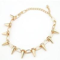 The golden triangle cone Fashion Necklace