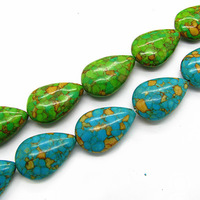 Green Blue Color Natural Howlite Turquoise Loose Beads Semi-stone Jewelry Beads Fit Necklace/Bracelet Pick Size HA034