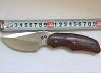 Free Shipping 6pcs/lot Brand New OEM BUCK 076 Hunting Knife Military Knife with Wood Handle KA0296
