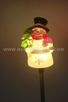 Lovely Solar Snowman Ground Stake Light with Color Changing LED For Christmas