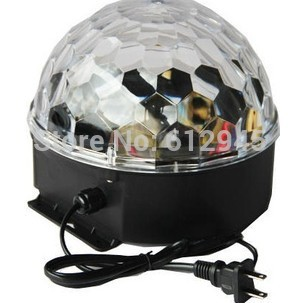 Popular  RGBWYP Disco DJ Stage Lighting Voice-activated LED Crystal Magic Ball Effect Light