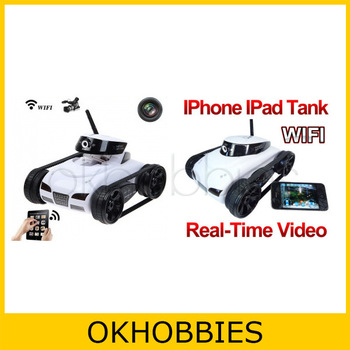 Hot 4CH RC Car Toys! Wireless Wifi Instant i-Spy iSpy Rover Tank Real-Time Video Camera APP Controlled for New iPad iPhone iPod