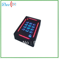 Free Shipping + 13.56Mhz MF back light keypad single door standalone access controller + 2000 users waterproof