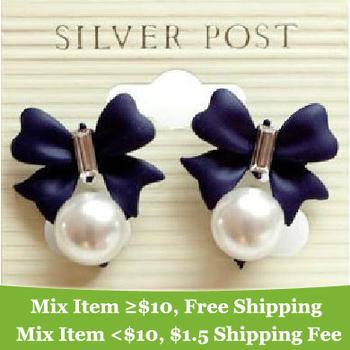 Fashion rhinestone sweet bowknot earrings !cRYSTAL sHOP