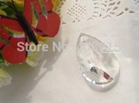 "Free shipping, High Quality Crystal Pendant Hanging Drop, Crystal Garland material, 1.5""/38mm Teardrop cut, Wedding ornament 100"