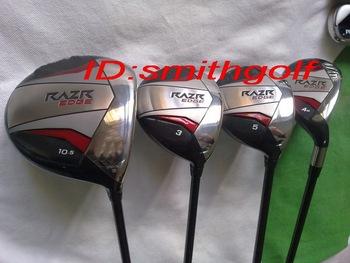 the best quality golf clubs complete set of clubs RAZR EDGE 10.5 degree golf driver 2pcs gold woods 1pcs hybrid 7pcs golf irons