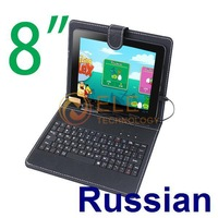 Russian English 8 inch Keyboard Case for Android Tablet