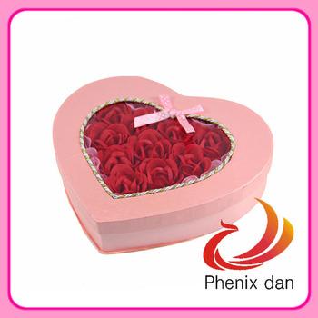Free Shipping 2012 Hot-selling Valentine/ Wedding Gift 26pcs washing  soap Rose Flower  for Wedding favors
