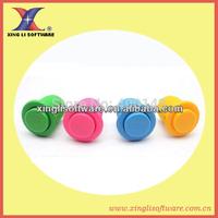 50pcs 24mm soldered push button,plastic button, arcade game button