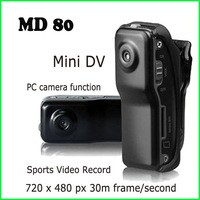 FedEx EMS DHL Free shipping Support 2GB/4GB/8GB DVR Sports Video Camera MD80 Hot Selling Mini DVR Camera & Mini DV