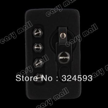 Black 4pcs/lot Benz-AMG Logo Car Tire Valve Stem Caps + Keychain Free shipping