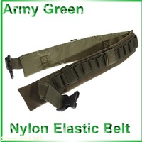 Good  Durable Quick Release Bungee Nylon Elastic Belt Military Gadget for Shotgun (Army Green)
