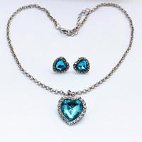 Sunshine jewelry store classic titanic ocean heart necklace earring jewelry set  e485 x410( $10 free shipping )x410