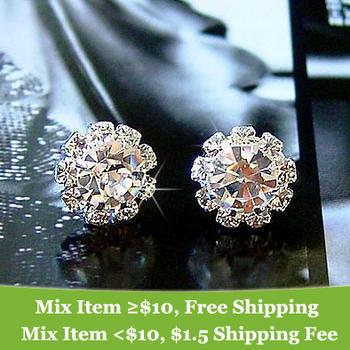 Free shipping new hot Brand designer High quality  Fashion  Elegant Rhinestone earrings jewelry for women 2014 Wholesale M11