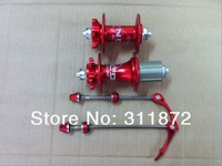 LOCNC DA1.0 Aluminum alloy CNC hubs / four perlin bike disc brake hubs 32H / bearing hub with quick release Red color