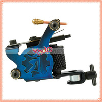 Free Shipping From USA! 8 Wrap Coils Tattoo Machine, HB-WPT108C Beginner Iron Tattoo Machine Gun 5pcs/lot 10005600